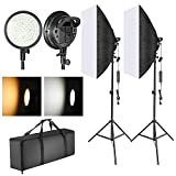 Neewer LED Softbox Lighting Kit: 20x28 inches Softbox, 48W Dimmable...