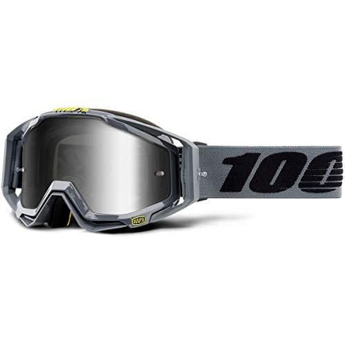 100% Racecraft Grau Erwachsene Nardo Brilles w/Silber Spiegel Linse