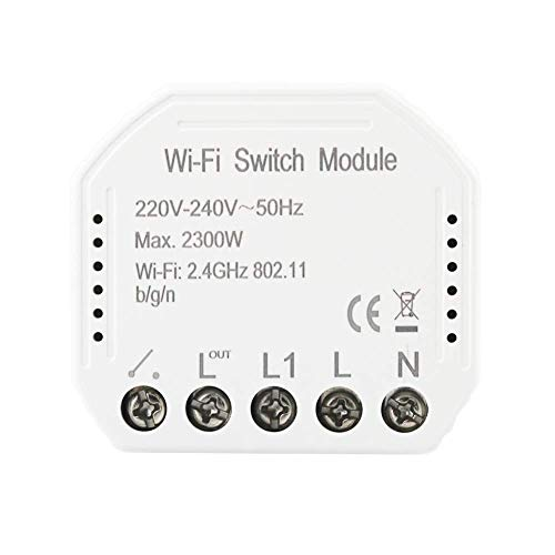 MOES Interruttore luce intelligente diy Interruttore fai-da-te Modulo Smart Life/Tuya APP Telecomando, funziona con Alexa Echo Google Home 1/2 Way