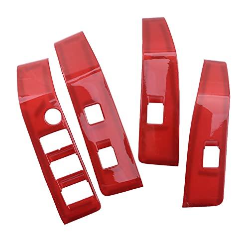 Prospective 4 unids/Set LHD Coche Coche Red Door Armés de la Ventana Interruptor de la Ventana Interruptor de la Cubierta FIT para Toyota Tacoma 2016 2017 2018 2019 2020 Accesorios