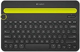 Logitech K480 Teclado Inalámbrico Multidispotivo para Windows, Apple iOS, Android o Chrome, Bluetooth, Diseño Compacto, PC/Mac/Portátil/Smartphone/Tablet, Disposición AZERTY Francés, Color Negro