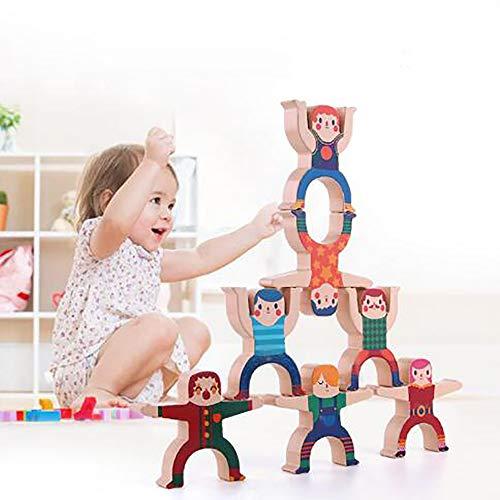 Kinderen Stapels Muziek Blokken, Hercules Gestapelde Hoge Piramide Evenwichtssubsidie Puzzel Bordspel Speelgoed Houten Blokken Gestapelde Blokken Spel Spelsaldo
