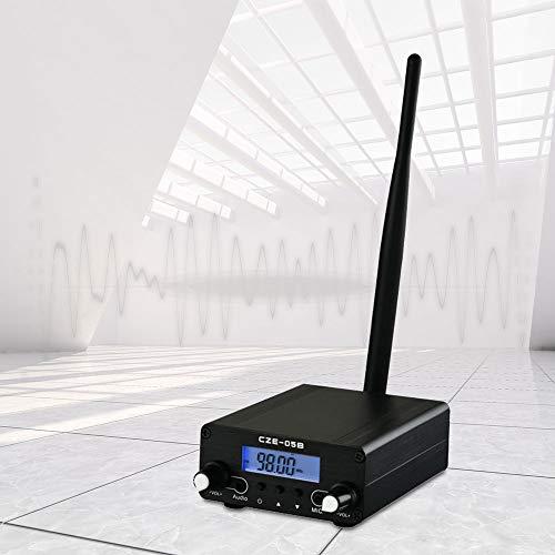 InLoveArts Transmisor FM Bluetooth 0.1 0.5W Transmisión estéreo con LCD Digital PLL inalámbrico - 76~108MHz, Mini estación de Radio estéreo para la estación de Radio de la Iglesia Car Theatre