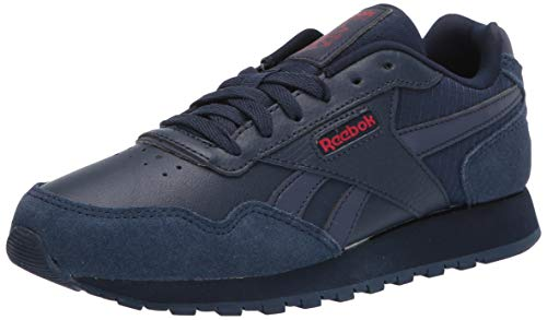 Reebok Men's Classic Harman Run Sneaker, Collegiate Navy/Collegiate Navy/Excellent Red, 9 M US