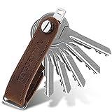 KEYSSENTIAL® | Key Organizer Leder mit Flaschenöffner, Schlüsselorganizer Leder für Damen und...