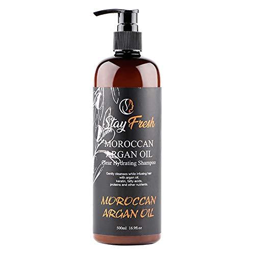 Stay Fresh Moroccan Argan Oil Shampoo - Clear Hydrating Shampoo - Cleansing & Nourishing Shampoo -...