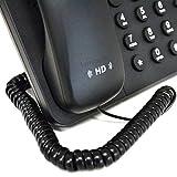 Teléfono Auricular Spire RJ10 Clavija a RJ10 Clavija Cable Cable Negro 2 m [2 metros/2m]