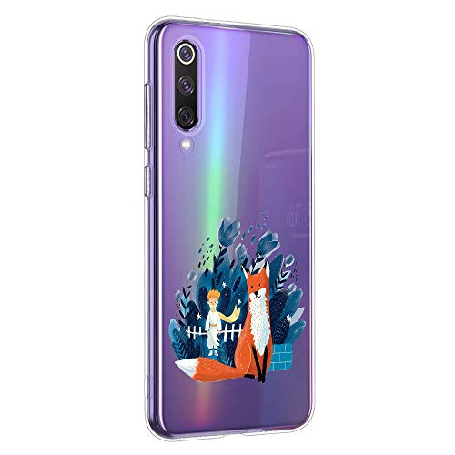 Oihxse Funda Xiaomi Mi 6, Ultra Delgado Transparente TPU Silicona Case Suave Claro Elegante Creativa Patrón Bumper Carcasa Anti-Arañazos Anti-Choque Protección Caso Cover (A5)