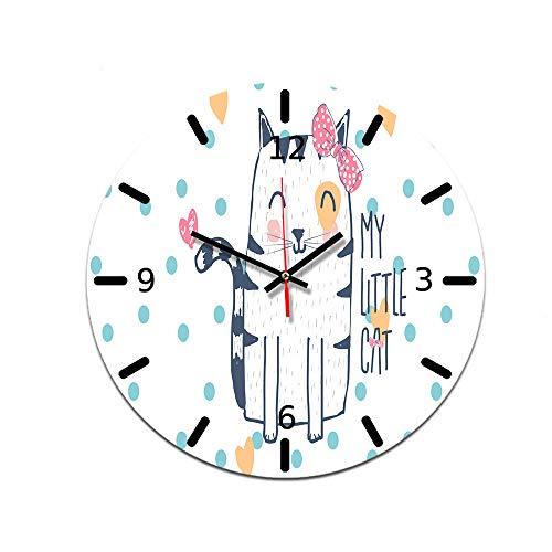 LUOYLYM DIY Uhr Wanduhr Acryl Uhr Dekorative Uhr Stumm Bewegung Spiegel Wohnzimmer Wanduhr Ctt-65 28CM
