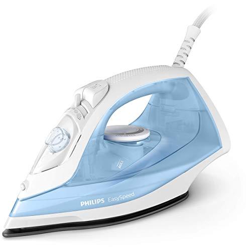 Philips EasySpeed Ferro a Vapore, Colpo 90 g, Serbatoio 220 ml, Azzurro/Bianco