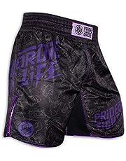 Pride or Die Fight Shorts Fight Life - MMA Fight Fitness No Gi Grappling Jiu Jitsu Pantalones Cortos para Hombre