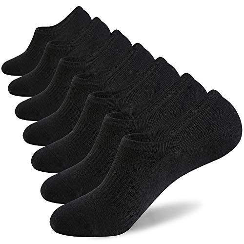 in budget affordable Men's No Show Socks 7 Pairs of Cotton Thin Non-Slip Low Cut Men's Casual Invisible Socks (7 Black, Size…