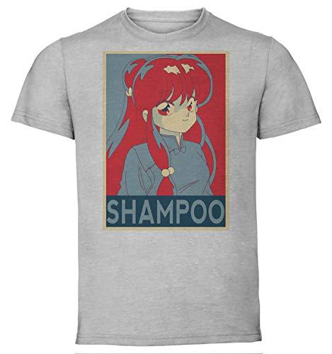 Instabuy T-Shirt Unisex - Color Grey - Propaganda - Ranma - Shampoo Variant Size Small