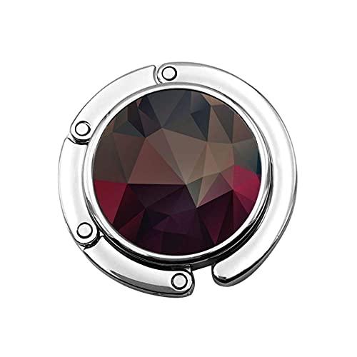 Gancho para Monedero Geometría de Cristal Soporte para Monedero Plegable Gancho para...