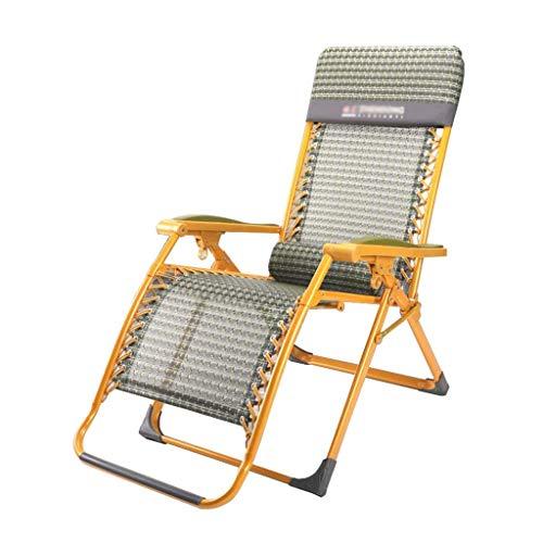 Chaise de Jardin Pliante élargie, Chaise Longue inclinable, Jardin de Relaxation zéro gravité avec Repose-tête avec Porte-gobelets (Couleur: A1)