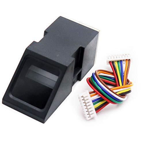 Asiawill Módulo óptico del escáner del sensor del lector de huellas dactilares AS608 Control de acceso de la cerradura de puerta del módulo óptico de la