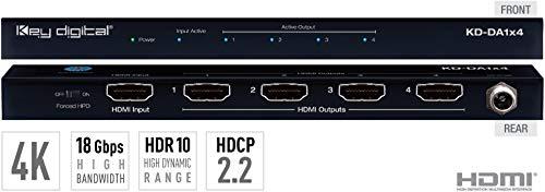 For Sale! Key Digital 1x4 4K 18G HDMI Distribution Amplifier