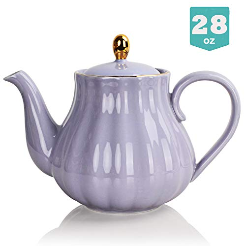 Sweejar Ceramic Teapot Tea Pot with Infuser