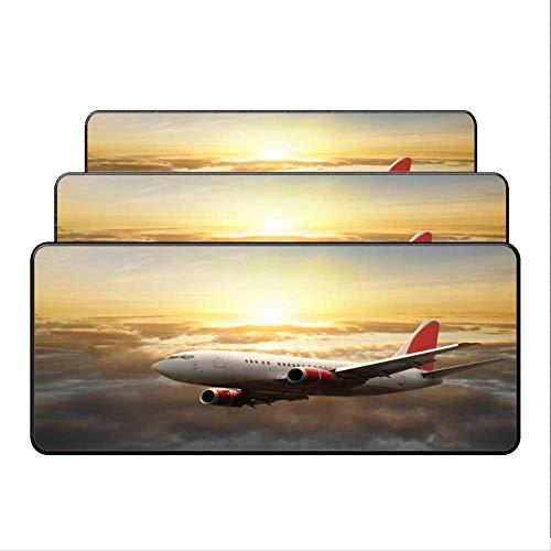 Dhsbd Mauspad Gelkissen Gaming Mauspad Flugzeug Fly Reise Schöne Computer Große Mousepad Gaming Laptop Tischset Overclock Geschenk Mauspad 400X900X3 Mm