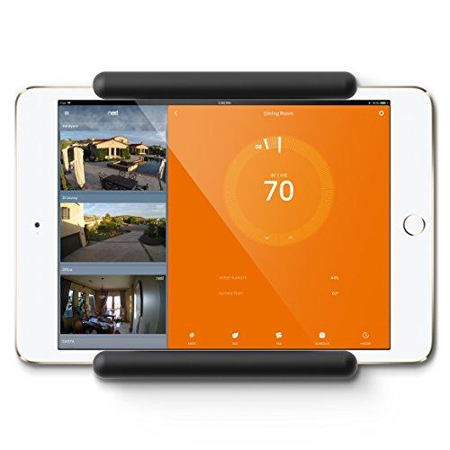 elago Home Hub Mount Wandhalterung Kompatibel mit Apple iPad Mini, iPad Pro, Samsung Galaxy Tab, meisten Tablets – Einfaches Montieren, Kratzfestes Silikon, Kabelmanagement Inclusive – Schwarz