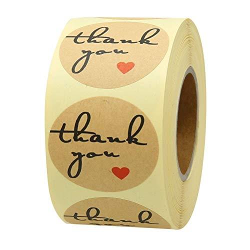 DUCUT 500 unidades hechas a mano con pegatinas de amor, redondas, autoadhesivas,...