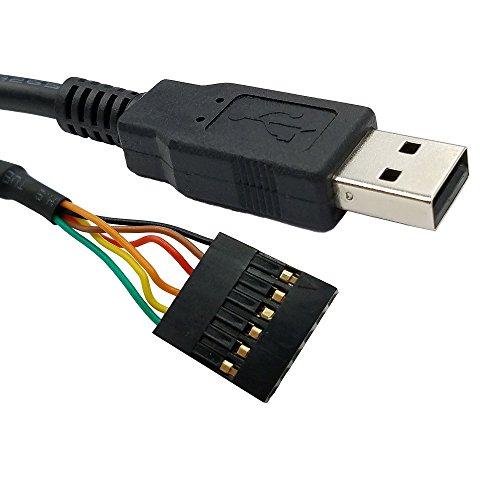Serielles UART-Konverterkabel USB auf TTL 3.3 V mit FTDI-Chip 6-fach-Leiste kompatibel mit Galileo Gen2 Boards/BeagleBone Black/Minnowboard Max und mehr