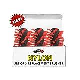 Nylon-Bürsten für Küchenmaschine limpiabarbacoa grllbot (Pack 3Stück