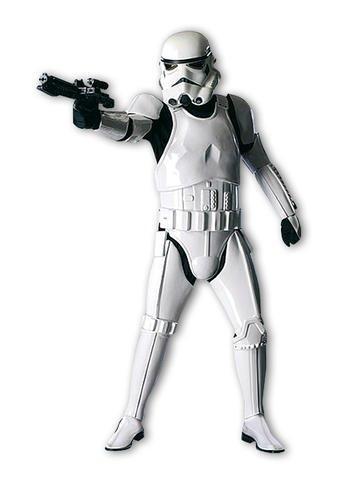 Offizielles Stormtrooper Deluxe-Kostüm für Erwachsene Star Wars - OneSize Standard M/L