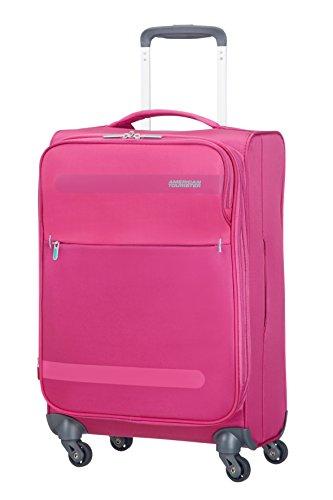 American Tourister 80372/1149 Herolite Super Light Spinner Bagaglio A Mano, 55 cm, 42 litri, Bubble Gum Pink