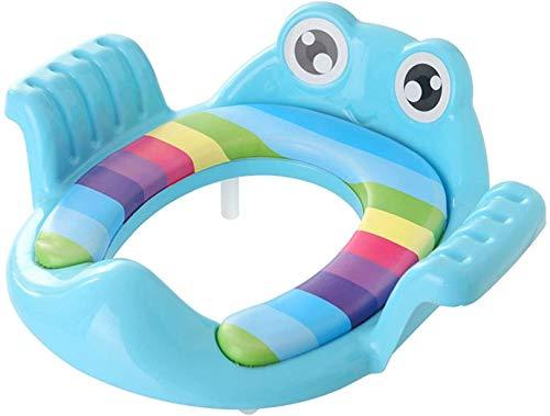 HLJ Frog Enfant Siège de Toilette garçon et Fille entraînement au Petit Pot Coussin de siège Safe Easy Clean Convient for 1-6 Ans, Rose (Color : Blue)
