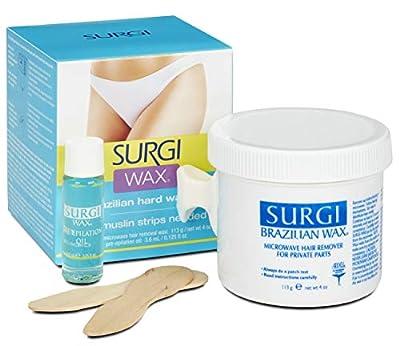 Surgi Hard Wax - Waxing for Hair Removal (113 ml) (Brazialian - Old Version)