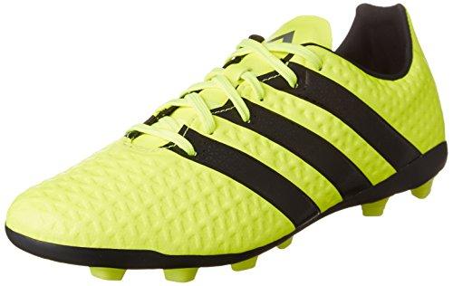 adidas Ace 16.4 FxG, Botas de fútbol Niño, (Solar Yellow/Core Black/Silver Metallic), 35.5 EU