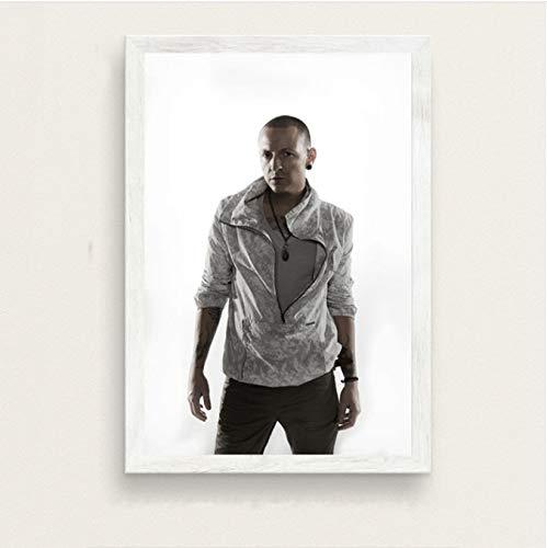 Xin Yao Store Moderne Mode Kreative Chester Bennington Linkin Park Musik Sänger Star Art Seidenmalerei Leinwand Wandposter Home Decor40X60CM