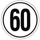 Geschwindigkeitsaufkleber 60 km/h, Ø 200 mm, Deutschland