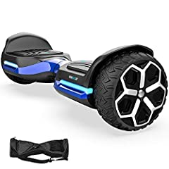 Strong off road hoverboard -powered by 700 watt motors. This self balancing hoverboard use strong off road tires which have great adaptability for all terrains, you will feel safe no matter what sorts of road you are on. Hoverboard smart APP - effici...