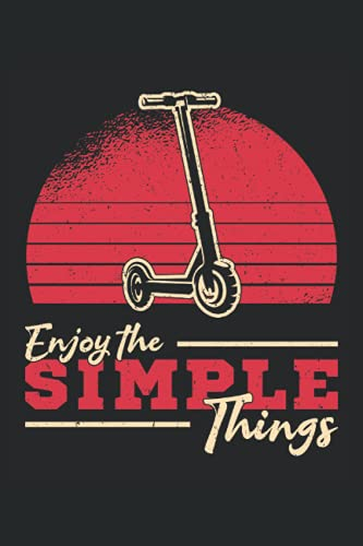 ENJOY THE SIMPLE THINGS: 5 Minute Journal with Prompts 5 Minute Journal for Men for Women (6x9 inches) with 120 pages in the Scooter Stunt Tricks Skate Design