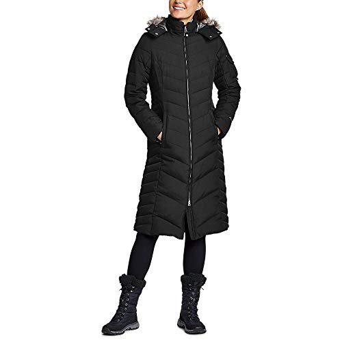 Eddie Bauer Women's Sun Valley Down Duffle Coat, Black Regular M