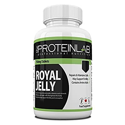 The Protein Lab Royal Jelly 750 mg Capsule Tablet Rich in Vitamins Minerals and Trace Elements Vitamin Foil Pack 30