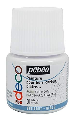 Pébéo 092001 Déco Acrylique 1 Flacon Blanc 45 ML