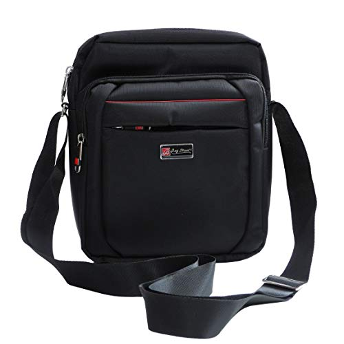 Bag Street - herentas schoudertas cameratas crossbag for Mannen reistas Borbagage Travelbag (zwart) - gepresenteerd door ZMOKA®