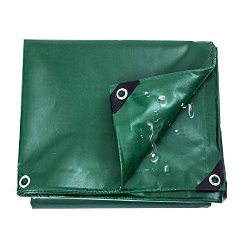 Tarps Waterproof Cover Green krachtige overkapping universeel PVC-zeil voor overkappingstent buitenshuis 530 g / m2 (grootte: 5 × 6 m) 3×5m