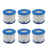 IUCVOXCVB Accesorios de aspiradora Filtro de Piscina FIT para BESTWAY FLOWCLEAR TAMAÑO Vi Cartucho de Filtro de reemplazo FIT FOR para Laic-Z-SPA - Miami Vegas Palm Springs Paris (Color : 6pcs)