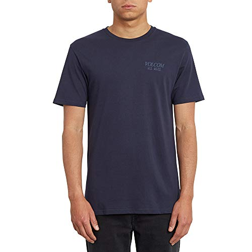 Volcom All Ages BSC SS Camiseta, Hombre, Navy, M