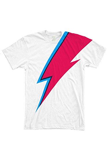 Bowie Lightning Bolt Face Paint Full Print Unisex T Shirt White