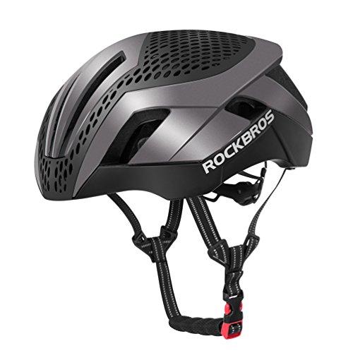 ROCKBROS Fahrradhelm Integriert EPS/PC 57-62cm Ultraleicht Stoßfest mit 2 Abnehmbaren Ersetzbaren Deckeln Mit CE (Titan)