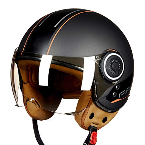 Open-Face Helmet, Jet-Helmet Motorcycle, Motorbike Scooter Biker Retro Chopper Pilot Cruiser DOT/ECE Approved Half Helmet