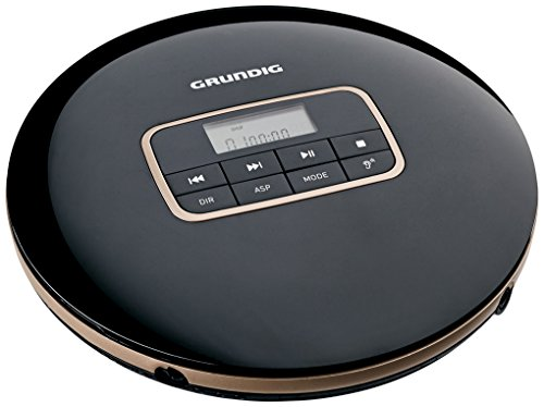 Grundig GCDP 8000 Portable CD Player Negro, Plata - Unidad de CD (12 h, MP3,WMA, 20 - 20000 Hz, Portable CD Player, Negro, Plata, 40 s)