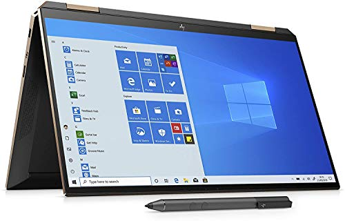 HP Spectre 13 x360 13.3-Inch 4K Ultra HD Touch-screen Convertible Laptop with Stylus - (Nightfall black) (Intel Core i7-1065G7, 16 GB RAM, 32 GB Intel Optane, 1 TB SSD, FHD IR Webcam, Windows 10 Home)