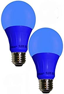 Sleeklighting Blue LED Light Bulb, A19 E26 Base Lightbulb -120 Volt - 3-Watt Energy Saving - Medium Base - UL-Listed LED Bulb - Lasts More Than 20,000 Hours