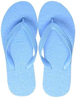 Relaxo Women's AL0009L Light Blue Blue Slippers 3 (AL0009LLBBL0003)